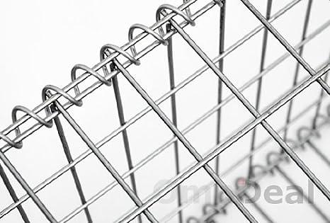 Niederberg Metall Gavión 100x50x30cm Gaviones metálico para Piedras M5x10 Jaula Cesta de Alambre: Amazon.es: Jardín