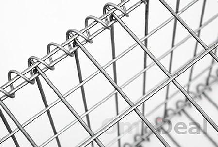 Niederberg Metall Gavión 100x50x30cm Gaviones metálico para ...