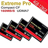 128 gb extreme pro cf card - Fucung Extreme PRO Memory Card For Camera UDMA7 Compact Flash,Speed 160MB/S 16G,32G,64G,128G Choosable (128GB)
