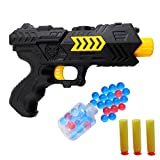 Topgift Shooting Toy Guns,Super Cool 2-In-1 Soft Bullet and Soak Crystal Bullet Toy Handgun,Foam Dart Detective Pistol Toy for Kids Holiday Birthday Presents,Perfect Antagonistic Game Set.
