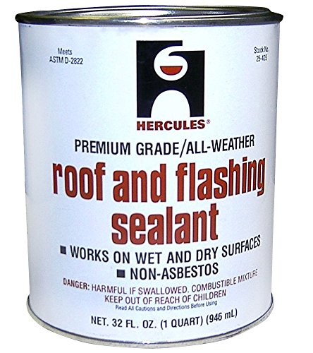 (Roof Flashing Sealant, Black, 1 Qt)