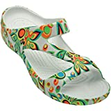 DAWGS Women's Arch Support Loudmouth Z, Shagadelic White, 6 M US