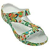 DAWGS Womens Arch Support Loudmouth Z Sandals (Shagadelic White, 9)