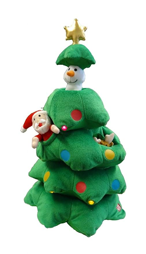 Singing Christmas Tree.Buy Singing Christmas Tree Santa Reindeer Snowman Musical