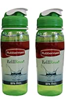 Rubbermaid Refill Reuse 20-Ounce Chug Bottle 1 Pack of 2 Green Bottles