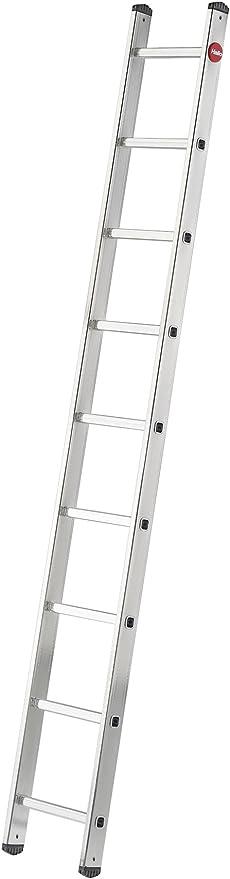 Hailo S60 ProfiStep One 7109-007 - Escalera (9 peldaños, Resistente a la Intemperie y no Requiere Mantenimiento, soporta hasta 150 kg), Color Plateado: Amazon.es: Bricolaje y herramientas