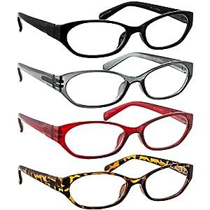 Reading Glasses 125 (4 Pack) Red Tortoise Gray Black F502