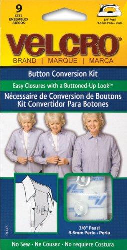 No Sew Button Velcro Conversion Pearl