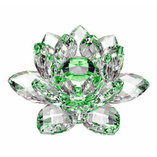 Amlong Crystal Hue Reflection Lotus Flower with Gift Box, 3
