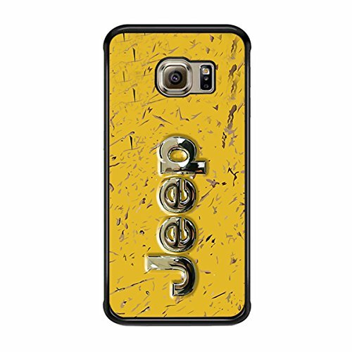 Muddy Yellow Off Road With Chrome Typograph Samsung Galaxy S6 Edge Case (Black ()