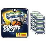 Gillette Fusion5 ProGlide Mens Razor Blades, 12 Blade Refills