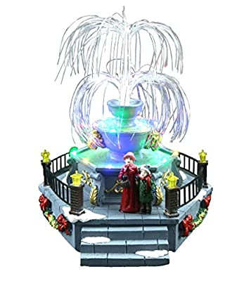 Top Treasures Snow Village Lighted Fountain   Lighted Christmas Fountain is a Perfect Addition to Your Christmas Indoor Decorations & Holiday Displays