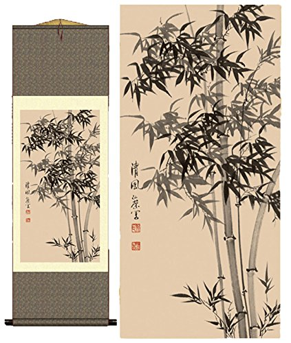- Grace Art Asian Wall Scroll, Bamboo