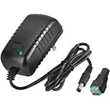 AC Adapter, YIFENG 12V 2A Switching Power Supply Adapter for 100V-240V AC 50/60Hz with DC Connector Gift