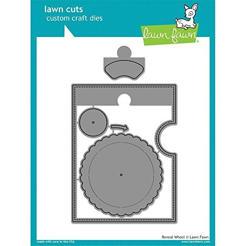 Lawn Fawn - Interactive Reveal Wheel Bundle - Wheel, Sentiments & Speech Bubble Add-on - Stamp and Die Sets - 3 Items