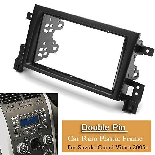 Star-Trade-Inc - 2Din Car Stereo Radio Fascia Panel Plate Frame Kit for Suzuki Grand Vitara 2015+ Car Interior Accessories from Star-Trade-Inc