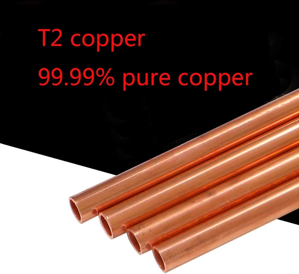 4 Pieces ,Diameter8mm,1mm Thick SOFIALXC Pur Copper Tube Tube DIY Rod Metal Raw Materials 500Mm Long
