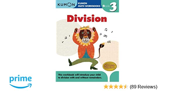 Grade 3 Division Kumon Math Workbooks Kumon Publishing