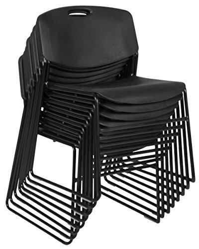 (Regency 4400BK8PK Zeng Stack Chairs (Set of 8), Black)