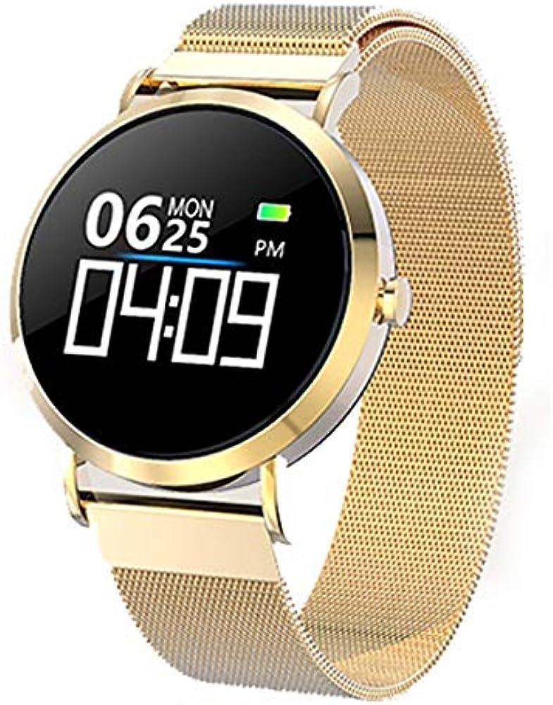 DSNGZ Reloj de Pulsera Reloj Digital Mujer CV08C Pulsera Reloj Presión Arterial Monitor de Ritmo cardíaco Rastreador de Ejercicios Pulsera Deportiva para Android iOS Lady: Amazon.es: Relojes
