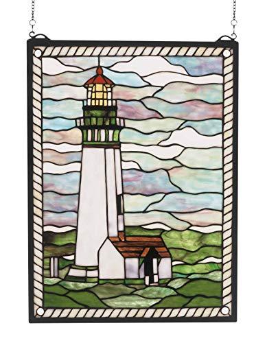 Meyda Tiffany Yaquina Head Lighthouse Window, MT-55949 ()