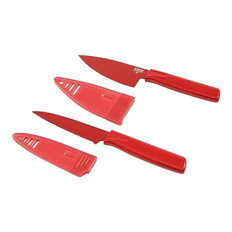 Amazon.com: kuhn rikon Colori Mini cuchillo de chef y juego ...