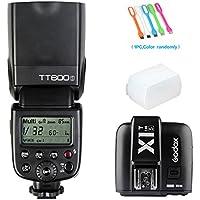 Godox TT600S HSS 1/8000s GN60 Built-In 2.4G Wireless X System Flash Speedlite X1T-S Remote Trigger Transmitter for Sony Multi Interface MI Shoe Cameras+ Diffuser +CONXTRUE USB LED