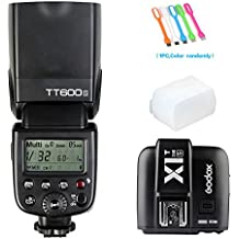 Godox TT600S HSS Built-In 2.4G Wireless X System Flash Speedlite for Sony Multi Interface MI Shoe Cameras+Godox X1T-S Remote Trigger Transmitter+ Diffuser +HuiHuang USB LED free gift