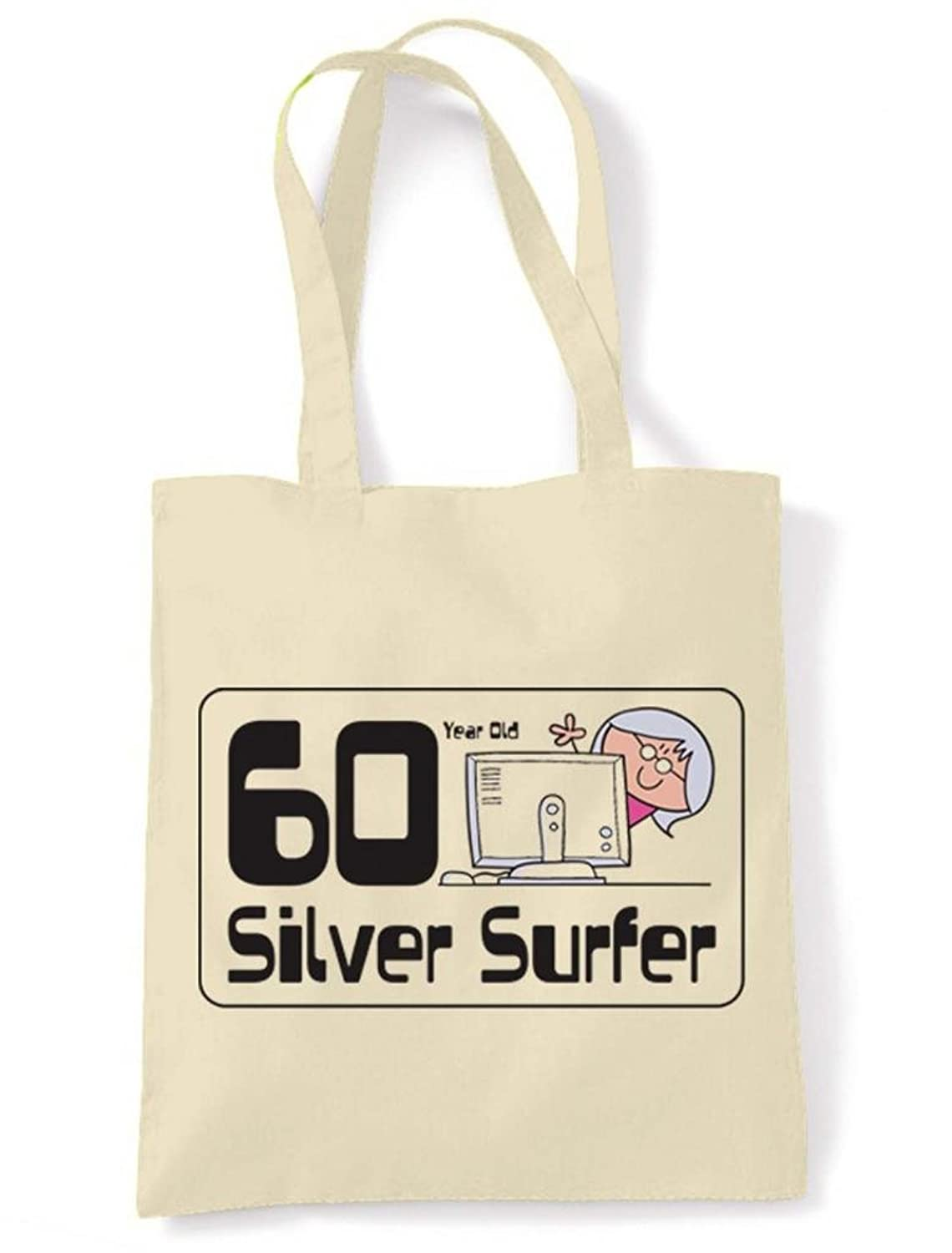 60th Birthday Tote//Shoulder Bag Chocoholic For 60 Years