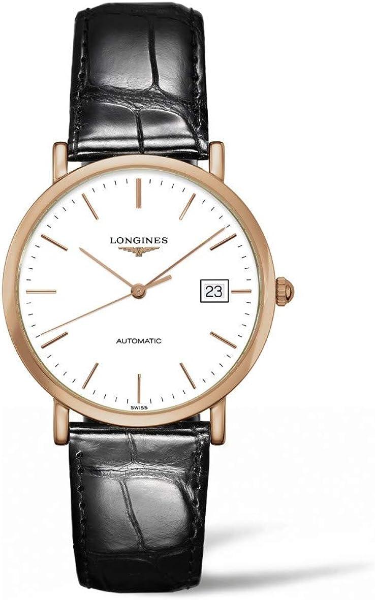 Longines La Grande Classique Automatic White Dial Black Leather Mens Watch L47878120