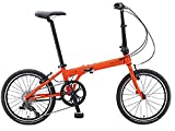 Dahon Speed D8 Tangerine Folding Bike Bicycle with Free Carry Strap For Shoulder
