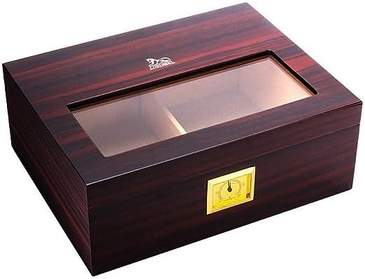 WLBOX Cigarro de Cristal Caja de Almacenamiento Caja de Cedro ...