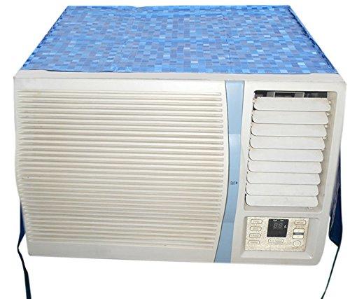 d450e469769 E-Retailer Blue P.V.C Air Conditioner Cover For 1.5 Ton (Window AC Cover)