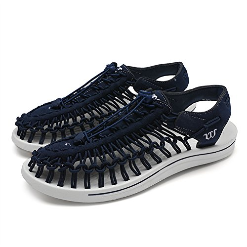 SK Studio Men's Sandal Outdoor Sports Sandals Woven Close-Toe Sandal Shoes with Toggle Closure Navy B oXOAqEBoJ