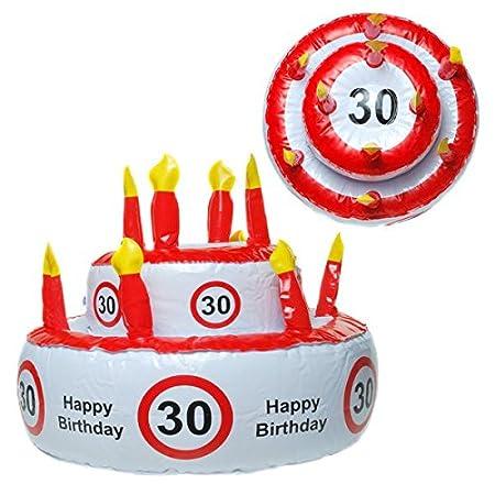 Tarta de cumpleaños hinchable 30 años para fiestas ...
