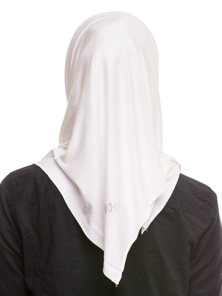 Kashkha Women's Plain Cotton Jersey Lightweight Hijab Scarf, Off White, 22inches Width*77inches Length /(55cm*200cm) by Kashkha (Image #3)