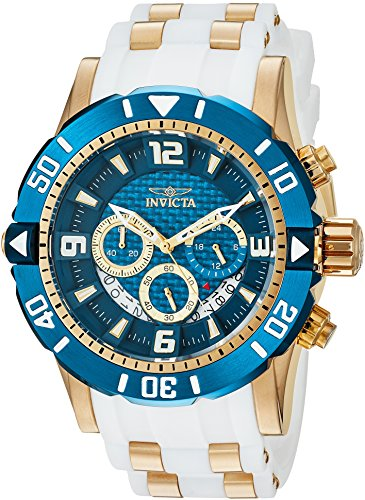 Invicta Men s Pro Diver Stainless Steel Quartz Diving Watch with Polyurethane Strap, Two Tone, 24 Model 23707
