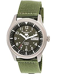 5 Men's SNZG09K1 Sport Analog Automatic Khaki Green Canvas Watch