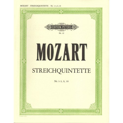 Mozart, W.A. - String Quintets, Vol 2 (Nos. 1-3, 9, 10) - Two Violins, Two Violas, and Cello Peters