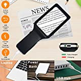 [Rechargeable] 4X Magnifying Glass with [10