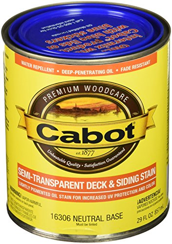 Cabot 206089 Deck And Siding Stain Neutral Base Semi Transparent, 1 (Semi Transparent Stain)