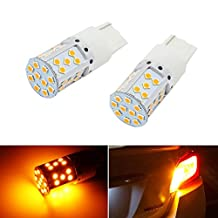 iJDMTOY (2) No Resistor, No Hyper Flash 21W High Power Amber 7440 W21W T20 LED Bulbs For Car Front or Rear Turn Signal Lights