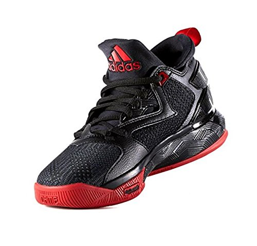 adidas D Lillard 2 Men's Basketball Shoe (13 D(M) US, Black/Scarlet/Black)