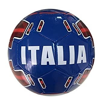 fcd063b1e lively moments Football / Game Ball Size 5 / Country Ball / Ball Italy  blue: Amazon.co.uk: Toys & Games