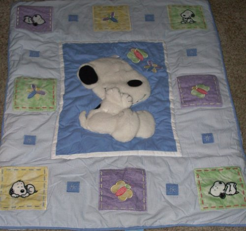 Snoopy Costume For Baby (Peanuts BABY SNOOPY - Lambs & Ivy - 3-D Quilt SET - Totally Snoopy)