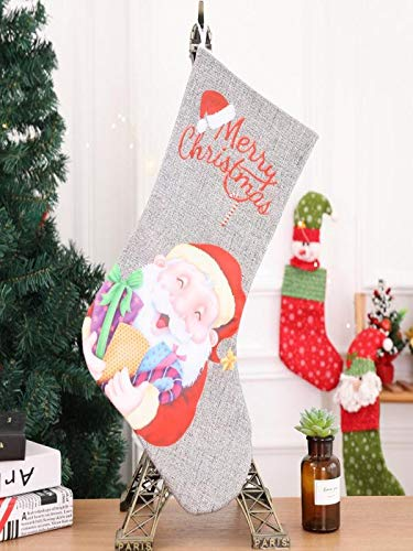SUJING Personalized Christmas Stockings Christmas Holiday Hanging Stocking Decoration (A)