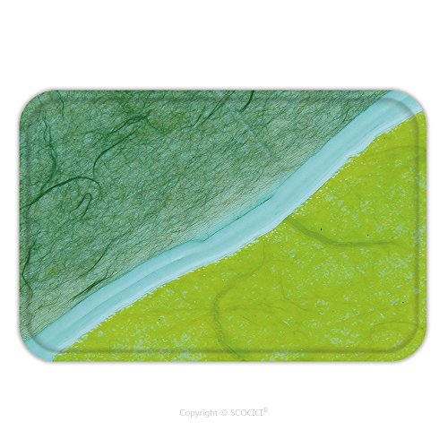 Flannel Microfiber Non-slip Rubber Backing Soft Absorbent Doormat Mat Rug Carpet Colorful Handmade Ceramic Background 125273792 for Indoor/Outdoor/Bat…