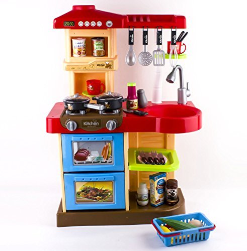deAO? Children Play Kitchen Set Toy with Play Food and Cooking Accesories by deAO by deAO