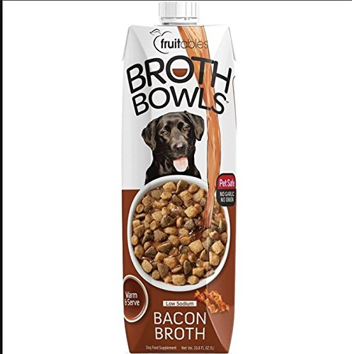 Pack of 1 Fruitables 33.8 Ounce Best Bacon Bredh Bowls Natural Food Topper Pet Safe Food Supplement