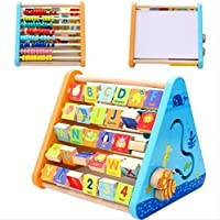 smartcraft Kids Eco-Friendly and Non-Toxic Wooden Educational & Learning Activity Triangle Box (Multicolour)